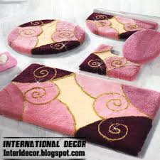 Designer Bathroom Rugs Rugs Bathroom Pink Rugs Pink Bathroom Rug Set Modern Bathroom