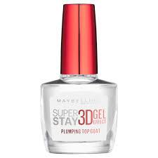 maybelline superstay nail polish 3d gel top coat at wilko com
