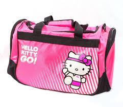 Bright Pink Bathroom Accessories by Amazon Com Hello Kitty Sports Duffle Bag Pink 20 5 X 11 8