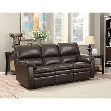 Top Grain Leather Reclining Sofa Top Grain Leather Reclining Sofa New Ebay