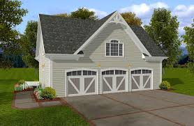 Apartment Over Garage Floor Plans Siding Three Car Garage With Storage Above 20054ga