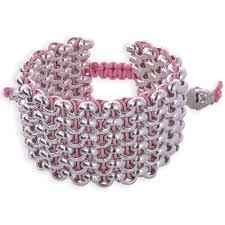 leather sterling bracelet images 925 silver chain baby pink leather wide 6 row cuff bracelet with jpg