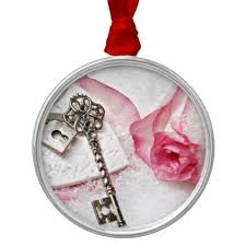 key to my heart gifts the key to my heart and lock valentines day metal ornament