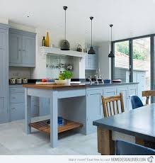 Paint Colours For Kitchen Cabinets by Interesting Blue Grey Painted Kitchen Cabinets O Intended Design