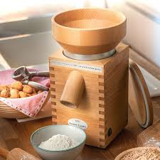 komo classic electric grain mill corn wheat grinder stone burr