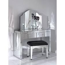 White Vanity Stool Bedroom Furniture Sets White Vanity Enclose Storage Mirror Stool