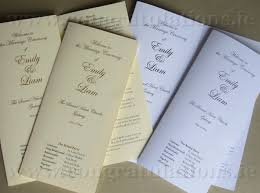 wedding ceremony booklet and wedding mass booklets and scrolls shop ireland for wedding