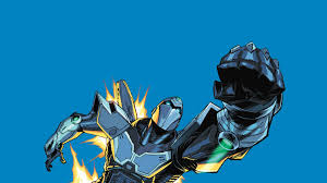 wallpaper robot cyborg flying fist art hd picture image