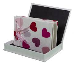 Handmade Photo Albums Photo Album Handmade Boxed Lokta Paper Pink Heart Design