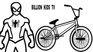 color bmx w superheroes spiderman coloring pages for kids