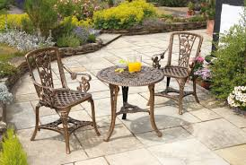 Folding Bistro Table And Chairs Set Dining Room Burly Wood Mosaic Bistro Table On Tile Floor For