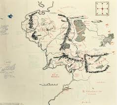 Map Of Oxford England by Map Of Middle Earth With Tolkien U0027s Hand Written Notes Gives