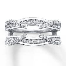 kay jewelers engagement rings kay diamond enhancer ring 3 4 ct tw round cut 14k white gold
