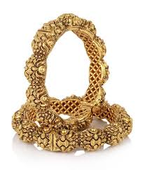 gold vintage bracelet images Jewels galaxy royal style broad gold plated antique bangles buy jpg
