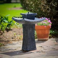 modern zen solar on demand outdoor fountain hayneedle