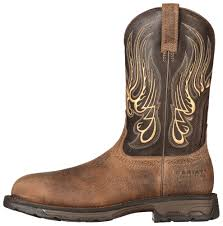 square toe cowboy ariat safety toe boots 10010892