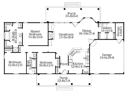 one level house plans with porch single level house plans home office