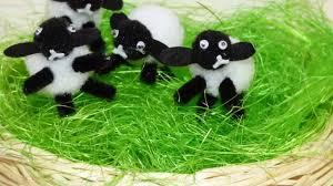 diy craft idea for kids how to make pom pom sheep lamb video