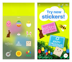 new in instagram stories easter passover and spring stickers