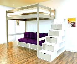 mezzanine canapé bureau couleur taupe lit mezzanine canape lit mezzanine design bi