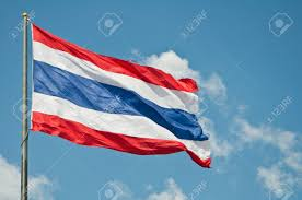 Thai Flag Waving Thai Flag Of Thailand With Blue Sky Stock Photo Picture
