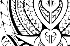 tribal polynesian tattoo design halfsleeve