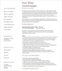 Sample Accounting Manager Resume by 9 Sample Accounting Resumes Free Sample Example Format Free