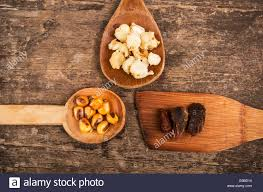 hominy and toasted corn nuts traditional ecuadorian food stock