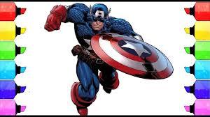 coloring book captain america coloring sider kids tegning og