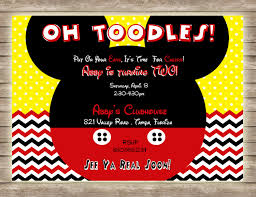 mickey mouse clubhouse birthday invites mickey mouse oh toodles chevron and polka dot birthday