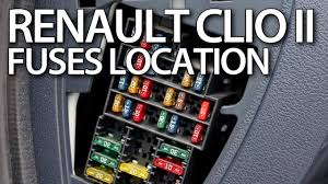 where are fuses and relays in renault clio ii thalia symbol