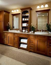 Cherry Bathroom Vanity Cabinets Cherry Bathroom In Cognac Kraftmaid