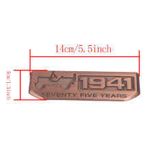 rose gold jeep rose gold 1941 seventy five years anniversary emblem badge decal