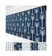 navy blue valance blue arrow valance curtain dark blue window