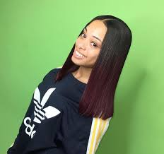 black hair weave part in the middle best 25 middle part blunt cut ideas on pinterest middle part