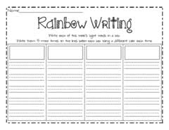 rainbow writing worksheets free worksheets library download and
