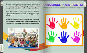 create a yearbook prints interactive colorful for pre k yearbooks