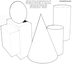 geometric shapes coloring pages coloring pages to download and print