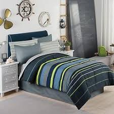 Blue Striped Comforter Set Boys Rugby Stripe Comforters