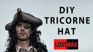 how to create a captain jack sparrow pirate costume how to make a tricorn pirate hat from foam diy jack sparrow youtube