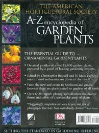 buy american horticultural society a to z encyclopedia of garden