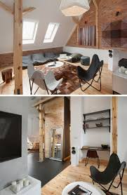this contemporary loft apartment was built inside a 19th century