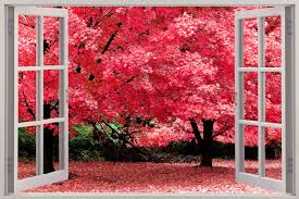 huge window beautiful pink forest view wall sticker mural decal huge window beautiful pink forest view wall stickers mural decal wallpaper