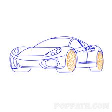 how to draw a sports car u2013 pop path