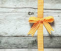 rustic ribbon colorful orange and white festive rustic ribbon and bow decorating