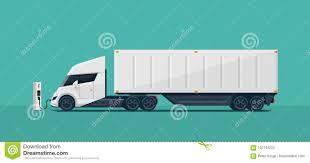electric semi truck modern futuristic electric semi truck with trailer charging at c