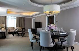 Living And Dining Room Three Bedroom Suite In Malaysia The Ritz Carlton Kuala Lumpur