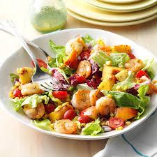 Summer Lunch Menu Ideas For Entertaining Shrimp U0026 Nectarine Salad Recipe Taste Of Home
