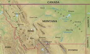 Map Of Billings Montana by Physical Map Of Montana