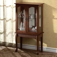 Curio Cabinets Shelves Small Standing Curio Cabinet Display Case Need Something Like